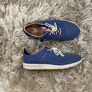 Medium blue TOMS shoes